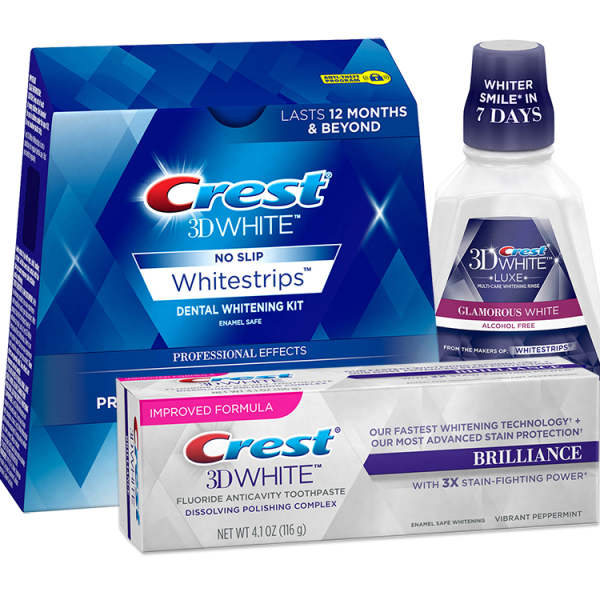 Pachet Crest Whitstrips 3D Professional Effects