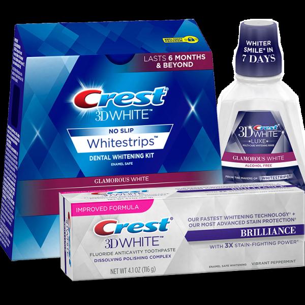 Crest Whitestrips 3D Glamorous White